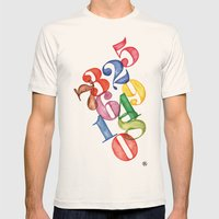 Numbers Mens Fitted Tee Natural SMALL
