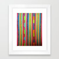 Colorful Funky Stripe Framed Art Print
