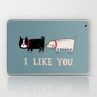 Laptop & iPad Skin featuring I Like You. by Gemma Correll