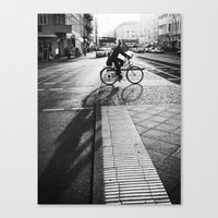 Bike/shadow II Canvas Print