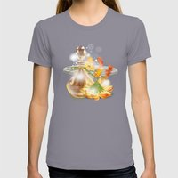 Duft der Blume - farbig Womens Fitted Tee Slate SMALL
