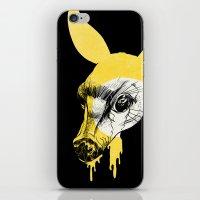 Fawn in Headlight iPhone & iPod Skin