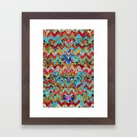 Wild Chevron- Indian Sty… Framed Art Print