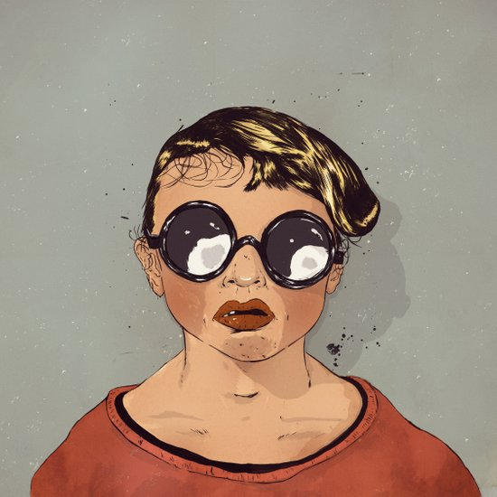 Boy With Glasses Art Print