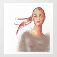 Light Scarlet Art Print