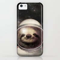 iPhone 5c Cases featuring Space Sloth  by Eric Fan