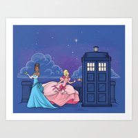The Princess and the Doctor Art Print