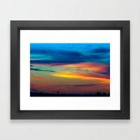 Sunset in Caleidoscope Framed Art Print