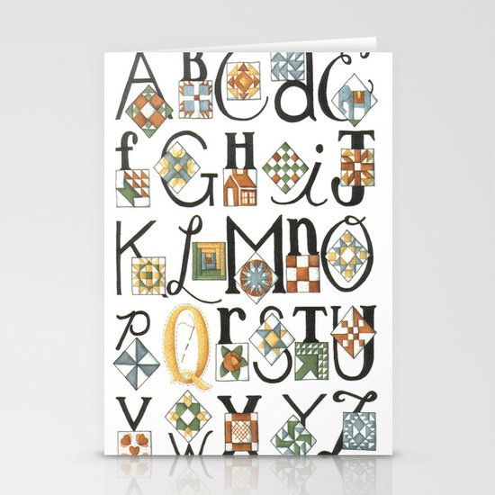 The ABC's of Quilting Stationery Card