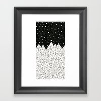 Diamond Peaks Framed Art Print