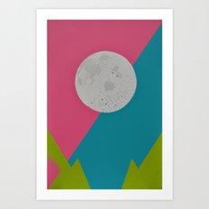 Colour Filled Moon Art Print