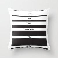 Swallow You Whole Throw Pillow