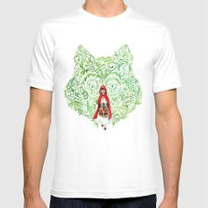 Red Riding Hood Mens Fitted Tee SMALL White