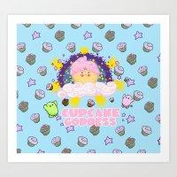 Cupcake Goddess 2 Art Print