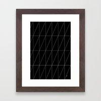 Black Triangles By Frizt… Framed Art Print
