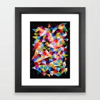 Space Shapes Framed Art Print