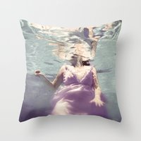 Dive in Violet Throw Pillow