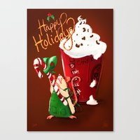 Christmas Rat 2014 Canvas Print