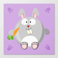 Rabbit from the circle series Canvas Print