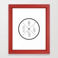 S6 : hipster clip Society6 Framed Art Print
