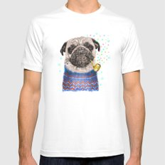 Mr.Pug II Mens Fitted Tee SMALL White