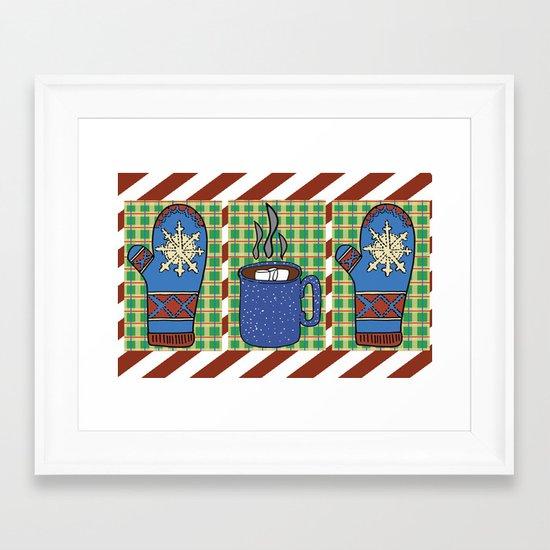 Cozy Christmas! Framed Art Print
