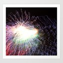 Electric night Art Print