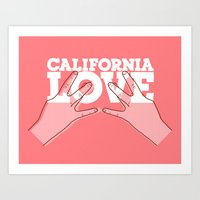 calfornia love. Art Print