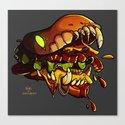 Burgermonster Canvas Print