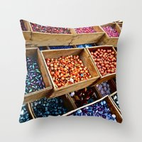 Beadazzled Throw Pillow