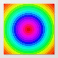 Rainbow Circle Canvas Print
