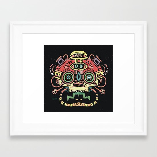 Lanceur de rêves - Alien tribe Framed Art Print