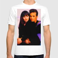 90210 Mens Fitted Tee White SMALL