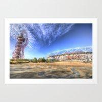 West Ham Olympic Stadium And The Arcelormittal Orbit  Art Print