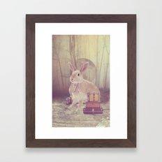 Fairy tale : rabbit Framed Art Print