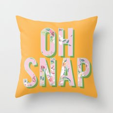 OH SNAP Throw Pillow