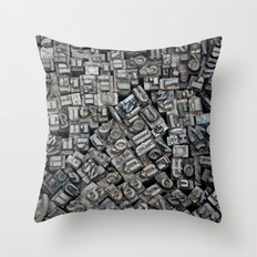 Letters, Letters, Letters Throw Pillow