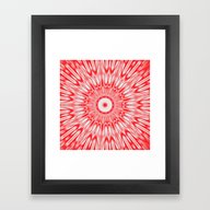Framed Art Print featuring Red Burst by SimpleChic