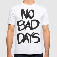 No Bad Days - T Mens Fitted Tee Ash Grey SMALL
