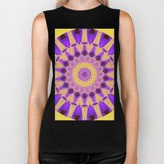 Bold Purple and Yellow Mandala Biker Tank
