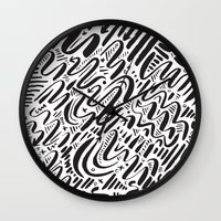 SQUIGGLY WIGGLY Wall Clock
