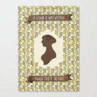 I Always Find Austen Too… Canvas Print