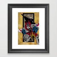King Star Scream Framed Art Print