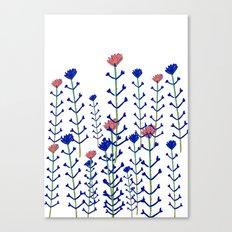 Flowers - floral - flowers - pattern  Canvas Print