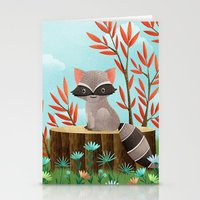 Woodland Friends - Racco… Stationery Cards