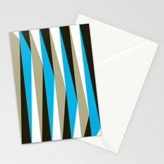 Blue Geometric Triangle Pattern Stationery Cards