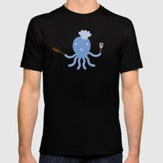 Octopus shef SMALL Mens Fitted Tee Black