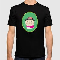 Frida Kahlo Mens Fitted Tee Black SMALL