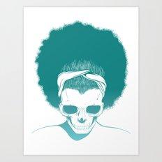 SKull GIrls 2 - Sky Teal Art Print