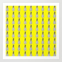 Yellow Pinapple Art Print